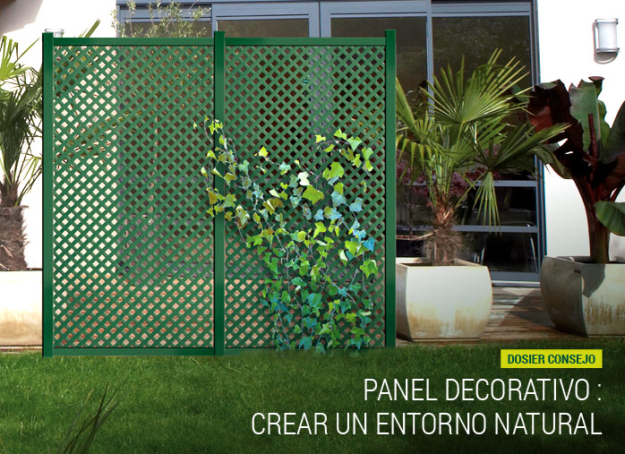 Panel decorativo crear un entorno natural nortene - Paneles de madera para jardin ...