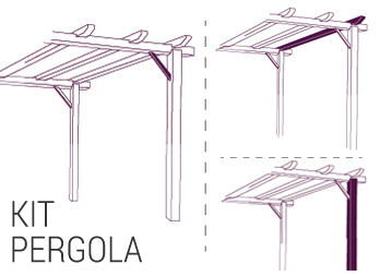 kit pergola kit p rgola nortene. Black Bedroom Furniture Sets. Home Design Ideas