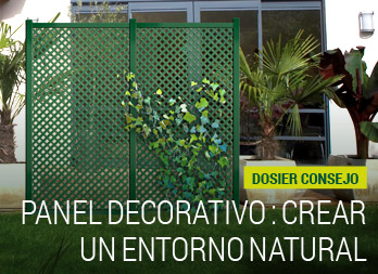 Panel decorativo : crear un entorno natural