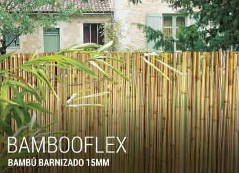 Malla de ocultaci n natural nortene - Canizo de bambu ...
