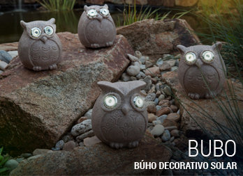 Búho decorativo solar