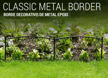 Borde decorativo de metal epoxi