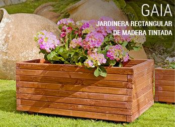 Jardinera trapecio pino nortene for Que plantas poner en una jardinera