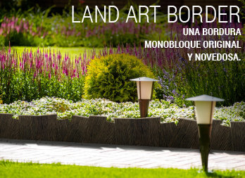 Bordura LAND ART BORDER. Decorativa y muy fácil de instalar.