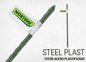 Tutor acero plastificado
