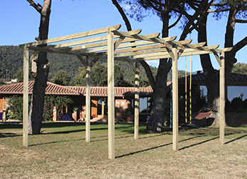 Kit para pérgola rectangular de 3,60 x 4 m