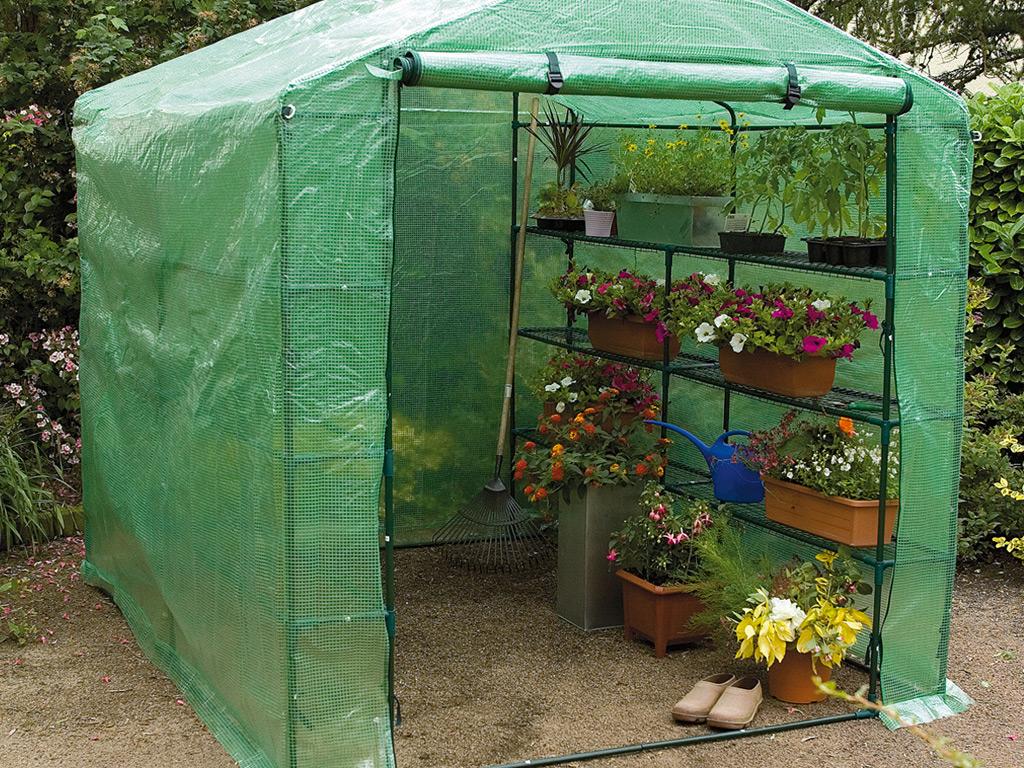 Invernadero de jard n con 6 estanter as nortene - Estanterias de jardin ...